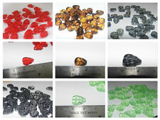 LUCITE/ GLASS/ ACRYLIC LEAF BEADS CHOICE OF COLOURS 50g per 100 or 72g per 100