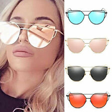 Hot Fashion Women Retro Cat Eye Sunglasses Oversized Glasses Eyewear Metal Frame