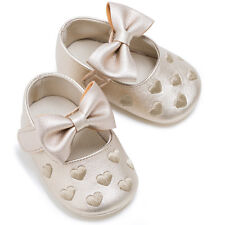 0-18 months Leather Baby Infant Soft Shoes Unisex Toddler Bowknot Slippers 2017