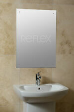 Frameless Bathroom Bedroom Drilled Hole Mirror