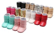 New Baby Girl Boy Tassel Boots Booties Toddler Infant Soft Crib Prewalker Shoes