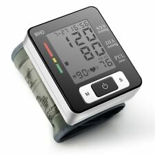 Digital LCD Wrist Blood Pressure Monitor Heart Beat Rate Pulse Meter Measure C1