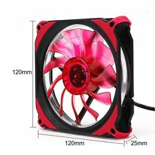 DC 12V 120mm 3 Pin + 4 Pin LED Brushless PC Computer Case Cooler Cooling Fan LN