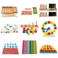 Kid Baby Math Preschool Learning Counting Sticks Abacus Puzzle Developmental Toy