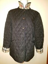 Burberry brit black women's diamond quilted jacket size medium