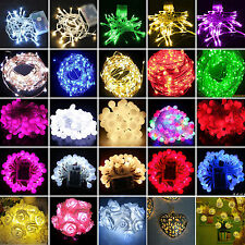 10-80 LED Battery Powered String Fairy Lights Wedding Christmas Party Xmas Lamp