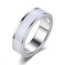 Womens Mens Cool jewelry stainless steel smooth Couple Love ring size 6 7 8 9