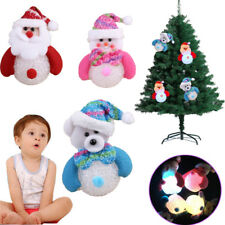 Cute Snowman Santa Claus toy Christmas Tree Decor LED Light Party Decor kids toy