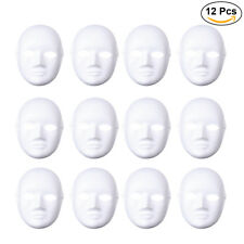 12xNewly Style Unpainted DIY plain/blank version Paper Pulp MALE and FEMALE Mask