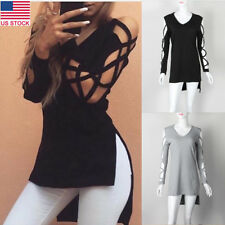 Women Long-Sleeve Shirt Casual Blouses Autumn Spring Fashion Cotton Tops T-Shirt