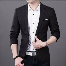 NEW Stylish Formal Mens Slim Fit One Button Suit Blazer Business Coat Jacket Top