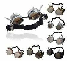 Vintage Victorian Steampunk Goggles Glasses Welding Cyber Punk Gothic Cosplay LN