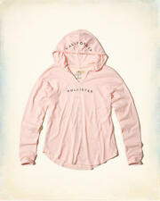 Abercrombie and Fitch by Hollister T-Shirt Womens Hooded Logo Tee XS Pink NWT