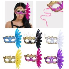 Glitter Feather Mask Party Masquerade Ball Eye Masks Fancy Halloween Costume