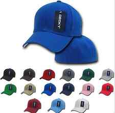 NEW Men Classic Plain Fitted Pre-Curved Bill 6 Panel Baseball Hats Hat Caps Cap