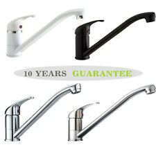 Black / White / Brushed / Chrome Kitchen Tap Single Lever Long Neck Monobloc
