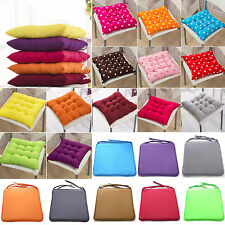 Cushion Seat Pads Outdoor Tie On Chair Home Garden Office Removable Cover Decor
