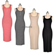 Women Sexy Sleeveless Sundress Stretch Bodycon Summer Beach Casual Maxi CL 01