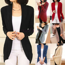 Women Casual Loose Long Sleeve Knitted Sweater Tops Cardigan Outwear Coat Slim