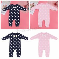 New Infant Newborn Baby Polka Dot Cotton Toddler Romper Bodysuit Outfit Clothes