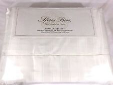 $670 Sferra Emmilla 500TC Cotton Sateen Sheet Set Queen,King or Cal Kg Ivory