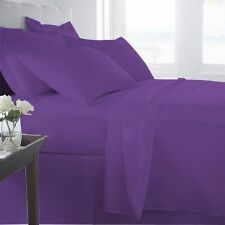 King Size 1000 TC Egyptian Cotton Sheet Set/Duvet/Fitted/Pillow Purple Solid,