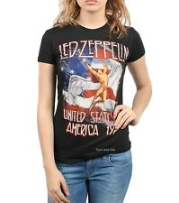 Led Zeppelin T-Shirt 1977 USA Tour metal rock Girls Tee Official XL Last NWT