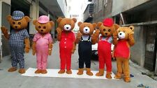 New Adult Teddy Bear Mascot Costume Halloween Christmas Cosplay For 1.65m-1.78m