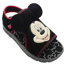 Disney Mickey Mouse Toddler Boys Black & Red Sandals Size XL