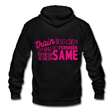 Fitness Train Insane Or Remain Same Unisex Fleece Zip Hoodie by American Apparel