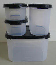 Tupperware Modular Mates Oval-Square Combination (Set of 4) + Free Shipping