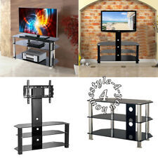 Gloss Glass TV Stand Cabinet Cable or TV Stand With Bracket for LED LCD Plasma