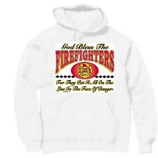 Pullover Hooded Hoodie Sweatshirt Fireman Firefighter God bless firefighters