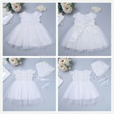 Infant Baby Flower Girls Party Wedding Birthday Baptism Christening Gown Dresses