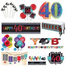 40th Birthday Party Decoration Supplies Fortieth Celebration Adult Parties ~ 40