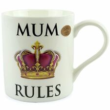MUM or DAD RULES MUG CUP Gift Boxed FINE CHINA by LEONARDO Mothers/Fathers Day