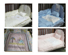 New Cot Bedding Bed Baby Bed Cot Bassinet Crib Quilt Bumper Sheet Blanket Pillar