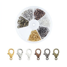 Box Zinc Alloy Lobster Claw Clasps 6 Color Trigger Clasp Findings 10mm/12mm/14mm