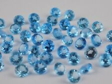 3 MM TO 8 MM ROUND CUT NATURAL SWISS BLUE TOPAZ BLUE COLOR LOOSE GEMSTONE BRAZIL