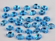 3X4 MM TO 8X10 MM OVAL CUT NATURAL SWISS BLUE TOPAZ BLUE LOOSE GEMSTONE BRAZIL