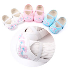 Baby Girl Floral Shoes Embroidery Soft Crib Kids Toddler Infant Babe Prewalkers