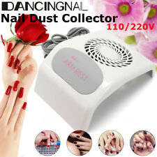110&220V Nail Dust Suction Collector Cleanser Nail Art Tool Machine With Big Fan