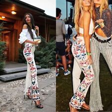ZARA FLORAL SIDE PRINTED FLARED TROUSERS PANTS BLOGGERS FAVORITE  XS, M 2481/724