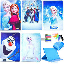 For iPad frozen cartoon tablet case pu characters protective skin stand cover