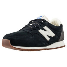 New Balance 420 Classic 70s Running Mens Black Suede Casual Trainers Lace-up