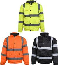 High Visibility Bomber Jacket Reflective Tapes Security Building Bouncer Waterpr