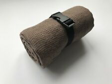 """TRAVEL Towel 100% Linen Brown Small Waffle Weave 140 cm x 85 cm (55""""x33"""") New"""