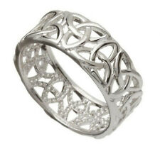 Silver Plated Ring With Irish Celtic Knotwork Design