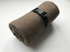 """TRAVEL Towel 100% Linen Brown Small Waffle Weave 110 cm x 180 cm (43""""x71"""") New"""