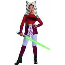 Ahsoka Star Wars Girls Costume Halloween Party Fancy Dress